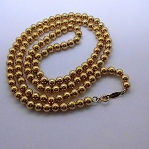 Vintage Napier Gold Bead Necklace